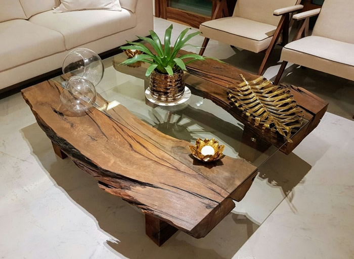 sala de estar objeto de decoracao mesa centro madeira