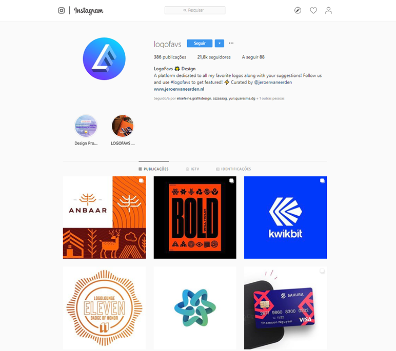 instafeed de logo design logofavs