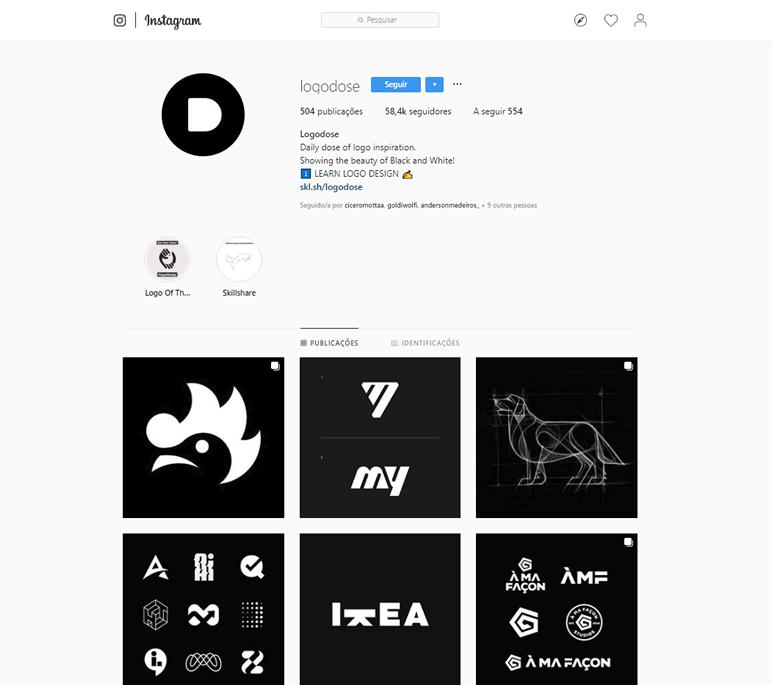 instafeed de logo design logodose