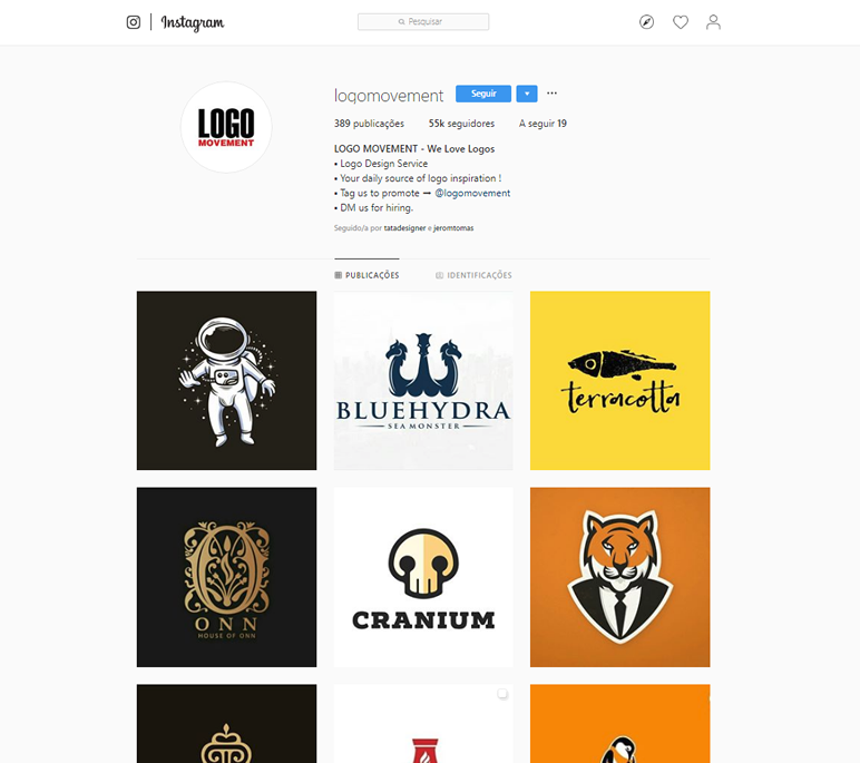 instafeed de logo design logomovement