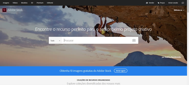 Designer Finalmente uma lista de sites adobe stock