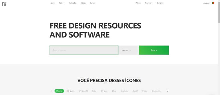 Designer Finalmente uma lista de sites icons8