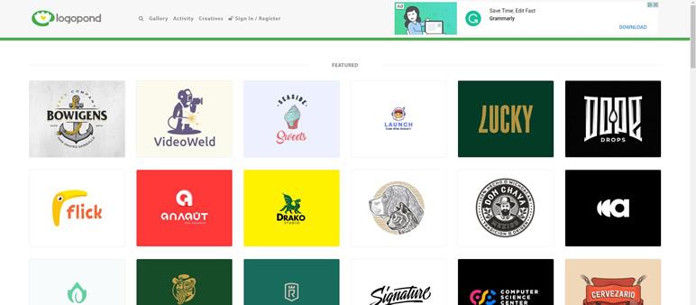 Designer Finalmente uma lista de sites logopond