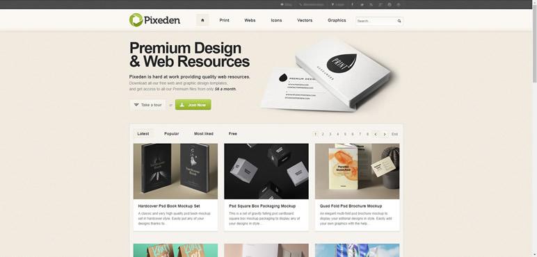 Designer Finalmente uma lista de sites pixeden