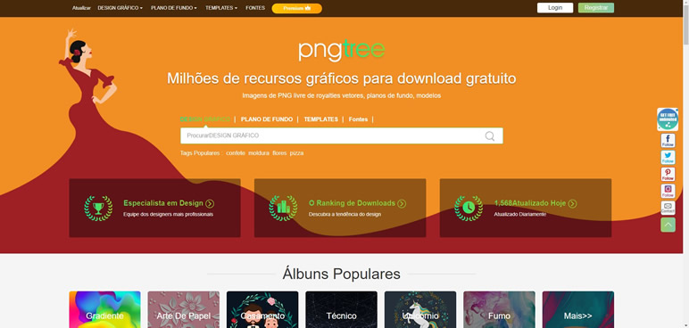 Designer Finalmente uma lista de sites pngtree