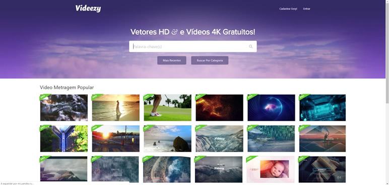 Designer Finalmente uma lista de sites videezy