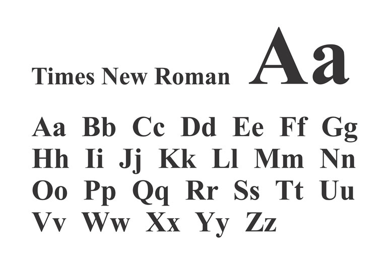 Fontes de letras conheça os tipos e como utilizar Times New Roman