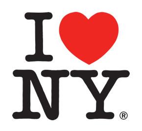 5 logos mais icónico I Love New York Milton Glaser